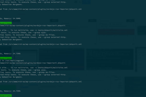 WordPress Unit Test Console Output