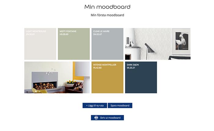 Moodboard Nordsjö Idé och Design